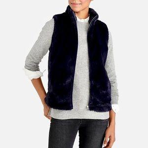 nwt jcrew faux fur vest k2216